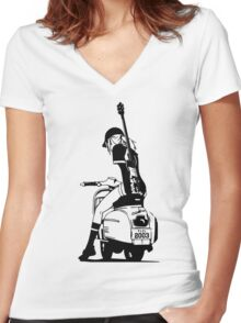 Fooly Cooly - Haruko Vespa Women's Fitted V-Neck T-Shirt