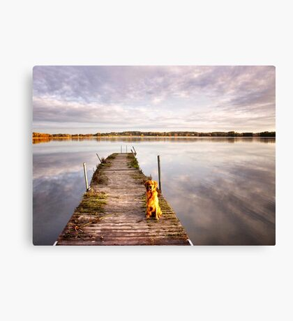 Jetty with a view Canvas Print