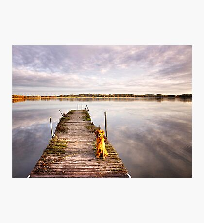 Jetty with a view Photographic Print