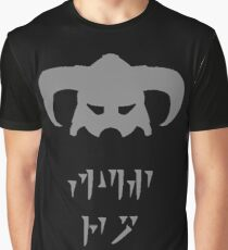 Skyrim Dovahkiin Fus Ro Dah Graphic T-Shirt
