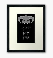 Skyrim Dovahkiin Fus Ro Dah Framed Print