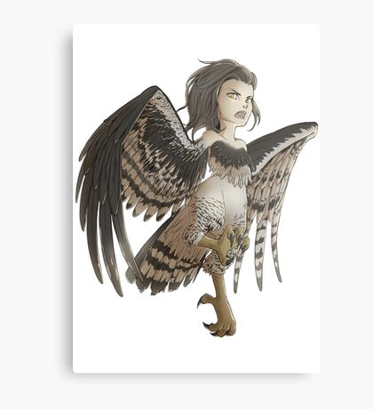 Harpy - Cute Mythical Creature Metal Print