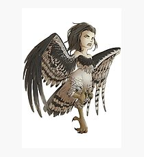 Harpy - Cute Mythical Creature Photographic Print