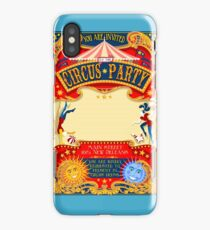 Circus Carnival Invite Poster iPhone Case/Skin