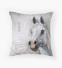 Arabian Spirit of Fire Throw Pillow