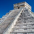 El Castillo in Chichen Itza by Randy  LeMoine