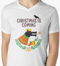 Christmas is coming Men's V-Neck T-Shirt
