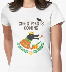 Christmas is coming Womens Fitted T-Shirt