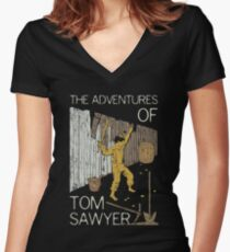 Books Collection: Tom Sawyer Women's Fitted V-Neck T-Shirt
