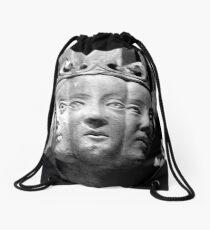 Stone carved  medieval damsels Drawstring Bag