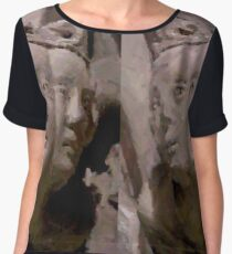 Medieval faces Women's Chiffon Top
