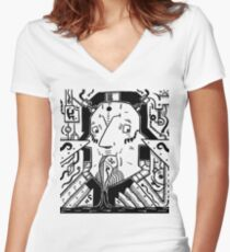 Surrealist pump Women's Fitted V-Neck T-Shirt