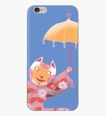 Magic Cat with Parasol iPhone Case