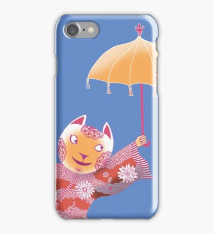 Magic Cat with Parasol iPhone Case/Skin
