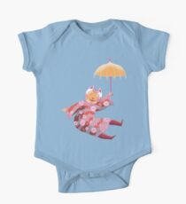 Magic Cat with Parasol One Piece - Short Sleeve