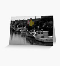 Fishing Harbor ~ Part Two Greeting Card