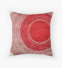 Red Kachina original painting Throw Pillow