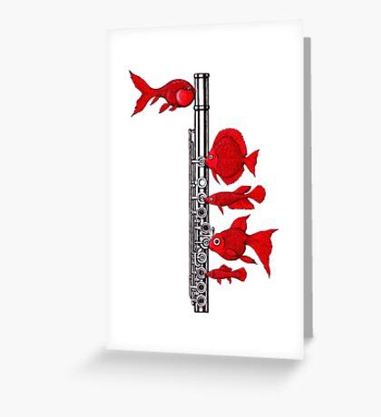 Fish and Flute Greeting Card