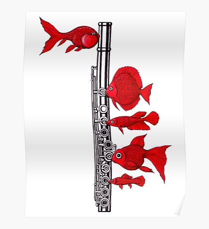 Fish and Flute Poster