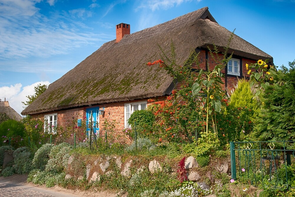 Gross Zicker: Thatched Cottage by Kasia-D