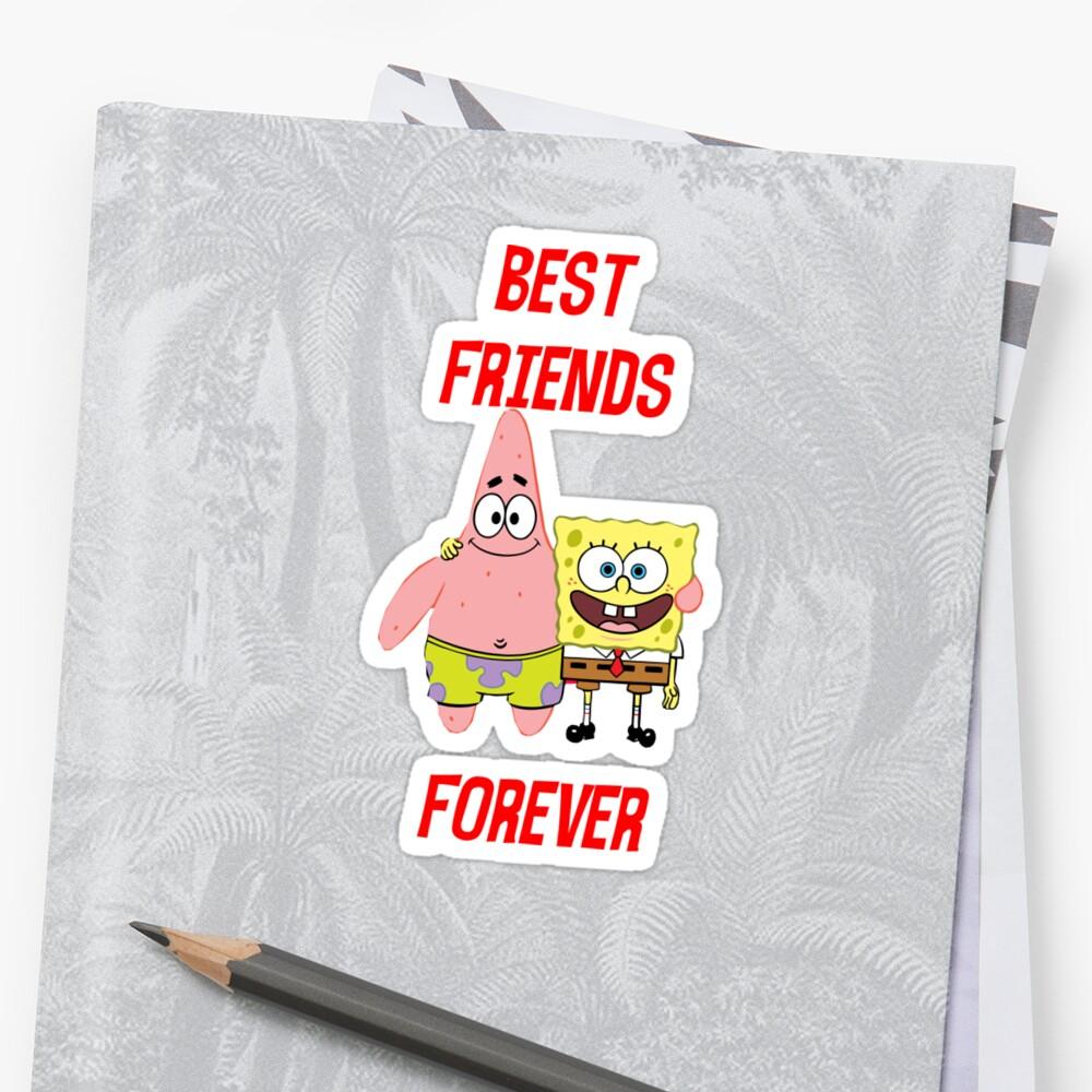 Pegatinas Patrick Y Bob Esponja Mejores Amigos Para Siempre De