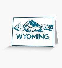 Wyoming Mountains Greeting Card