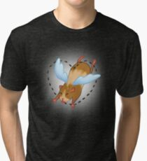 Guinea Pig Angel poop Tri-blend T-Shirt