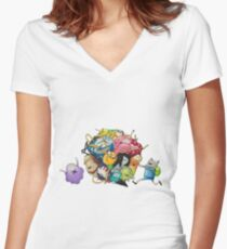 adventure time drawing Women's Fitted V-Neck T-Shirt