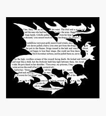 Daenerys Targaryen Dragon  Photographic Print