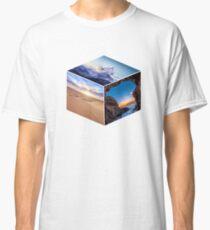 3D Landscape Cube Classic T-Shirt