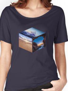 3D Landscape Cube Women's Relaxed Fit T-Shirt