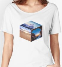 3D Landscape Cube Women's Relaxed Fit T-Shirt