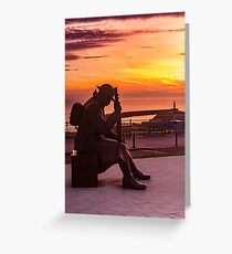 Tommy and Seaham Lighthouse Greeting Card