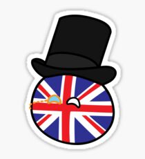 Polandball - Great Britain Big Sticker