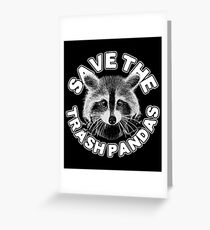 Save the Trash Pandas Raccoon Animal T-shirt Greeting Card