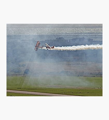 Through The Smoke - Wingwalkers - Shoreham 2014 Photographic Print