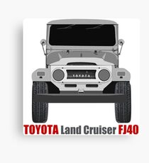 Land Cruiser FJ40 - Front Canvas Print