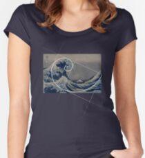 Hokusai Meets Fibonacci Women's Fitted Scoop T-Shirt