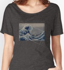 Hokusai Meets Fibonacci Women's Relaxed Fit T-Shirt