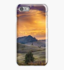 Sunset in the Bear Paws, Montana photo iPhone Case/Skin