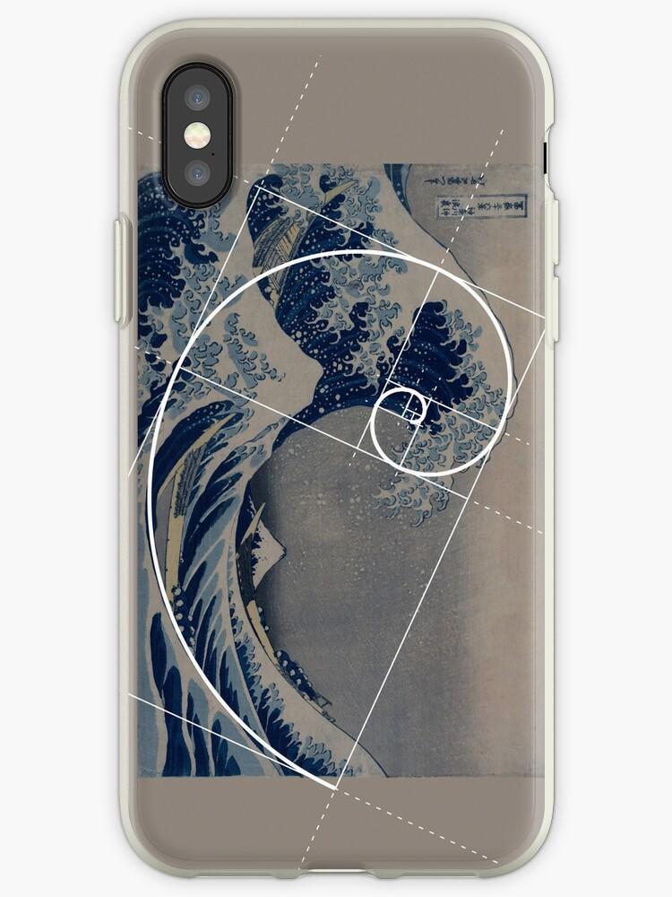 on sale ef5bd 4e7e2 'Hokusai Meets Fibonacci' iPhone Case by SymbolGrafix