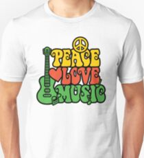 Reggae Peace-Love-Music Unisex T-Shirt
