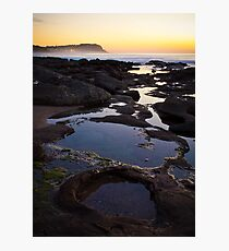 Merewether Rockpools with view to Bar Beach Photographic Print