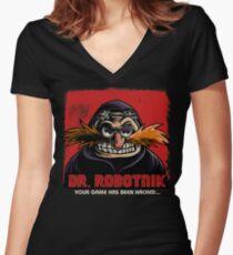 Mr Robotnik Women's Fitted V-Neck T-Shirt