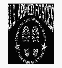 US Armed Forces Boots On The Ground  Photographic Print