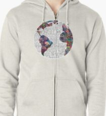 Us Against The World Zipped Hoodie