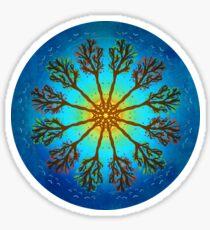 Nature Tree in Seasons Mandala Sticker