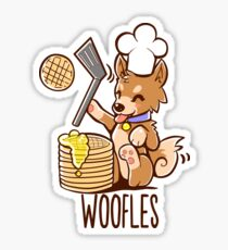 I'm making woofles Sticker