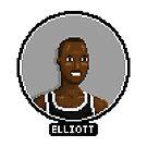 Sean Elliott - Spurs by pixelfaces
