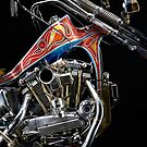 Evel Knievel Harley XLCH Chopper Engine by Frank Kletschkus